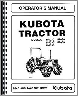 kubota m7030dt tractor operators manual kubota manuals rh amazon com manual for kubota tractor b7500 service manual for kubota tractor b7800