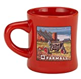 McCormick Deering Farmall F-20 Mug Red with Tractor