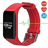 Fitness Tracker Smart Band Continuous Heart Rate Monitor, MGCOOL B3 / B4 Activity Tracker Bracelet Sleep Monitor Step Counter Stopwatch Distance Smart Watch Reminder, Christmas Gift