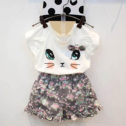 Goodlock-Toddler-Kids-Clothing-Set-Baby-Girls-Cute-Cat-T-Shirt-Floral-Shorts-Set-Clothes-Suit-2Pcs