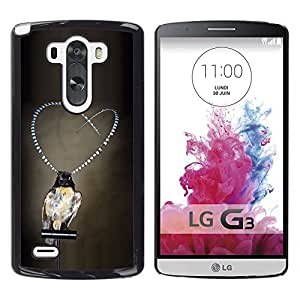 Planetar® ( Girl Love Pearls Grey Deep Depression ) LG G3 / D855 / D850 / D851 Fundas Cover Cubre Hard Case Cover