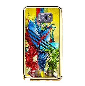 Wonderful Logo Luxury Adidas Phone Case TPU Golden Border Series for Samsung Galaxy Note 5