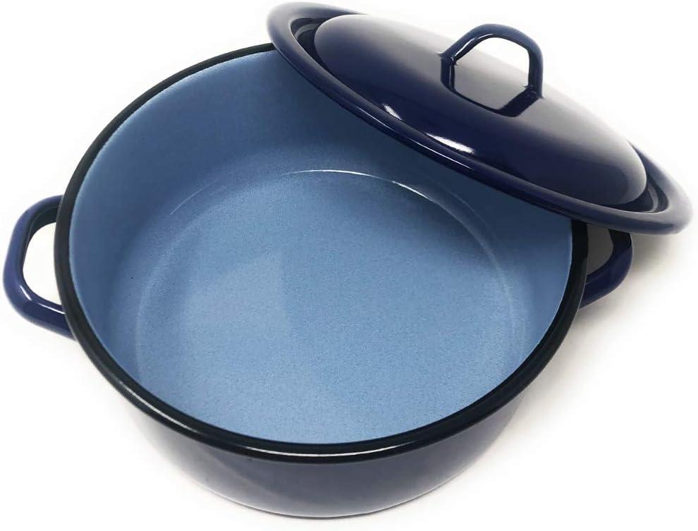 Blau Kochtopf Menax Kasserolle 0,65 L In Spanien Hergestellt Induktionsgeeignet /Ø 12 cm Emailliert Stahl