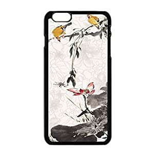 Modern Customized Lotus Bird Cool Beautiful Case Cover For Apple Iphone 6 Plus 5.5 Inch