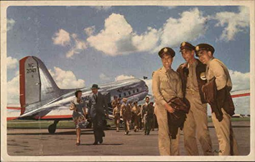 (American Airlines System Pilots Airline Advertising Original Vintage Postcard )