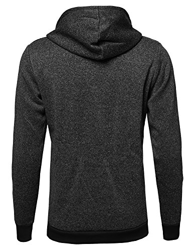 Fine Quality Plush Fleece Lined Pullover Black L Size by Style by William (Image #1)