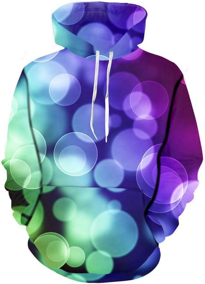 PU Frühling und Herbst 3D Sweatshirts Männer Sweatshirts Licht und Schatten Druck Blase Hoodies Männer Casual Hooded Sweatshirt 3D Pullover Outwear,M *** L