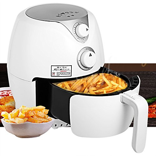 Vansop Electric Air Fryer For Healthy Fried Food - 2.9 L, 2.6 Qt Capacity 1300 Watt with Rapid Air Circulation Temperature Control Timer Detachable Basket Handles