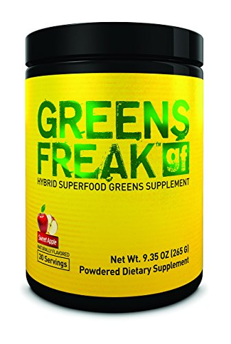 PHARMAFREAK Greens Freak - Sweet Apple - 262G Powder - Hybrid SUPERFOOD Greens Supplement - Sweet Apple - Designed for Athletes and Lifters