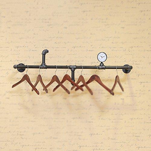 Coat hanger / clothing store display rack / wall-mounted hanger / simple hose hanger / vintage nostalgia side hanger / women's clothing rack / clothes shop hanger /(1202735cm) by Hangers