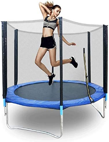 6 FT Kids TrampolineEnclosure Net Jumping Mat and Spring Cover Padding Toys Gift for Girls Boys Baby Kids Children`s Play Toy GiftOutdoor Children`s Adult Trampoline Outdoor Bungee Bed
