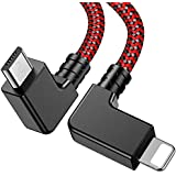 Wondrux Compatible 1FT 90 Degree Micro USB to iOS OTG Data Cable Right Angle Phone Tablet Connector Cord DJI Spark, Mavic Pro
