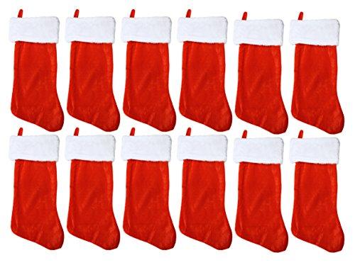 Velvet Decorative Christmas Stocking (Set of 12 - 19