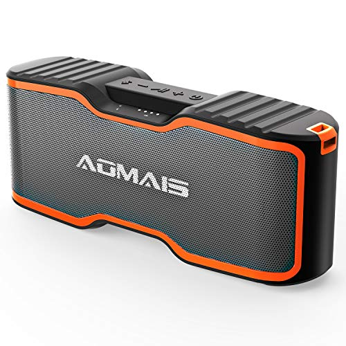 AOMAIS Sport II+ Bluetooth Speakers, Portable Wireless Speaker Louder Sound, IPX7 Waterproof, 20 Hours Playtime, 99 ft Bluetooth Range & Built-in Mic, Sport II Upgraded Version for Home Party, - Speaker Ipx7 Bluetooth