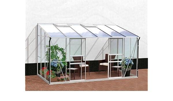 vitavia – Invernadero Ida – Acabado: 7800 HKP-100 6 mm, superficie: aprox. 7,8 m², ventana: 2, dimensiones: 201 x 387 cm, Socket de Métrica: 190 x 379 cm: Amazon.es: Bricolaje y herramientas