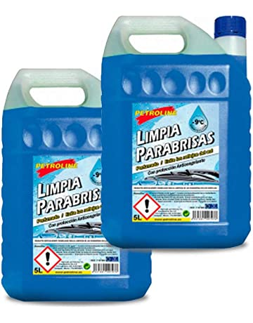 Petroline LIMPIAPARABRISAS PERFUMADO 9ºC 5 litros Pack 2 Botellas
