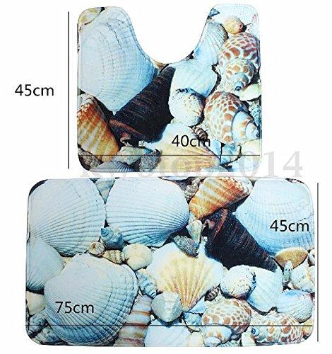 Homespun Sea Beach Blue Shell 45 x 75 Cm Set Of 2 Piece Microfiber Soft Comfortable Gift Bathroom Accessories - Liberty 4 Piece