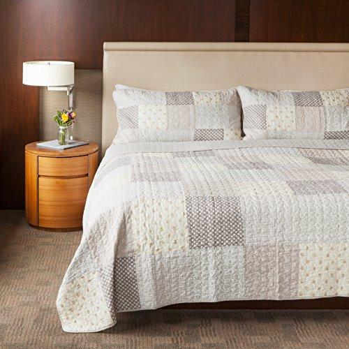 queen patchwork quilt set - 6
