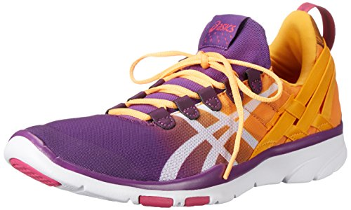 ASICS Women's GEL-Fit Sana Cross-Training Shoe, Purple Magic/White/Nectarine, 7.5 M US