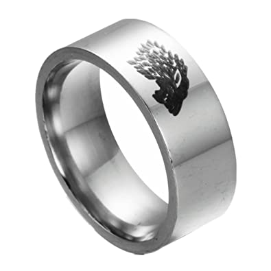 Game of Thrones Ice Wolf House Stark of Winterfell Stainless Steel