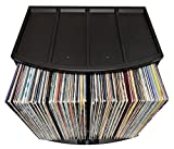 Stackable Vinyl Record Storage Rack 12'' LP Holder Organizer Over 75 Albums Ring Binder Stand Lever Arch Crate 12x12 Paper Storage Rack Magazine Holder Shelf Cube Box