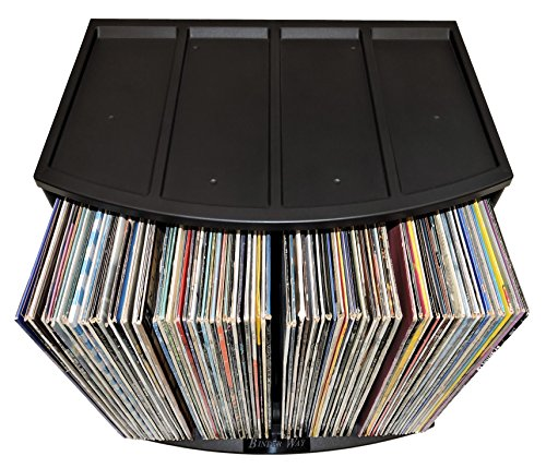 Stackable Vinyl Record Storage Rack 12'' LP Holder Organizer Over 75 Albums Ring Binder Stand Lever Arch Crate 12x12 Paper Storage Rack Magazine Holder Shelf Cube Box by Binder Way