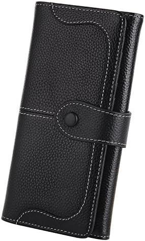 YALUXE Blocking Genuine Leather Checkbook