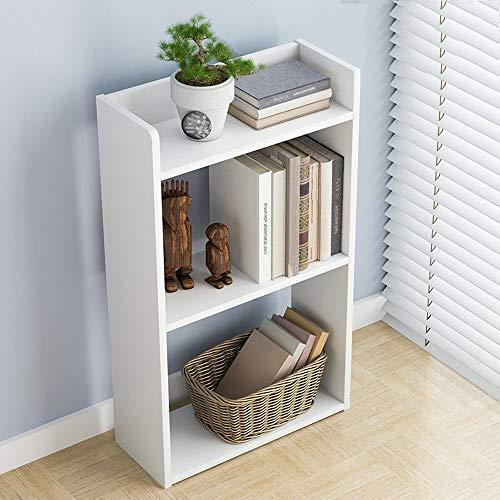 Maikouhai Simple Floor Bedroom Book Shelf Creative Free Combination Small Bookcase Bookshelf, White, 11.8 x 6.7 x 23.7 -