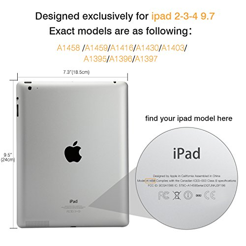 Moko Case for iPad 2/3 / 4 - Ultra Lightweight Slim Smart Shell Stand Cover with Translucent Frosted Back Protector for iPad 2 / The New iPad 3 (3rd Gen) / iPad 4, Rose Gold (with Auto Wake/Sleep) by MoKo (Image #3)