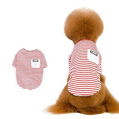 Jdogayncat Pet Clothing, Cotton Striped Plaid Two-Legged Small Dog Teddy Bear Dog Clothes -