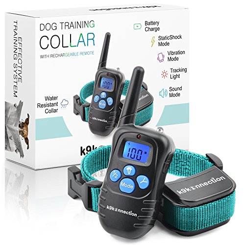 K9konnection Dog Training Shock Collar with Remote - Used by Professional Trainers to Control Barking and Teach Tricks - Rechargeable E-Collar for Small to Large Dogs 10+ lbs - Beep / Vibrate / Shock