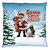 Santa Claus Is Comin To Town Christmas Song Throw Pillow