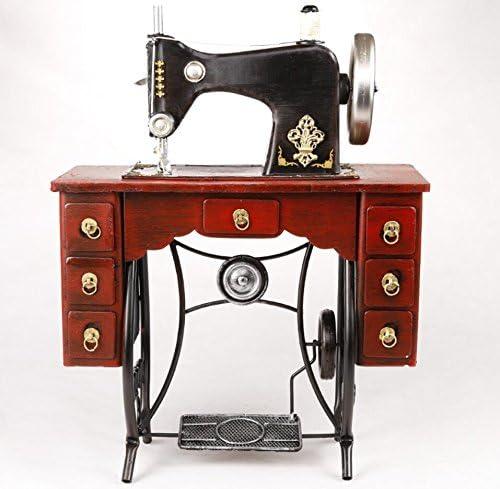 LD&P Retro hierro vertical pie máquina de coser modelo adornos adornos de fotografía decoración de la ventana decoración de la colección de artesanías decoración de la barra,A,35*17*46CM: Amazon.es: Hogar