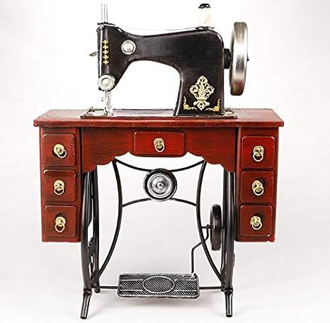 LD&P Retro hierro vertical pie máquina de coser modelo adornos ...