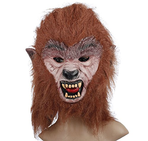PANDA SUPERSTORE The Wolfman Mask Halloween Party Mask Masquerade Mask Cosplay Mask -