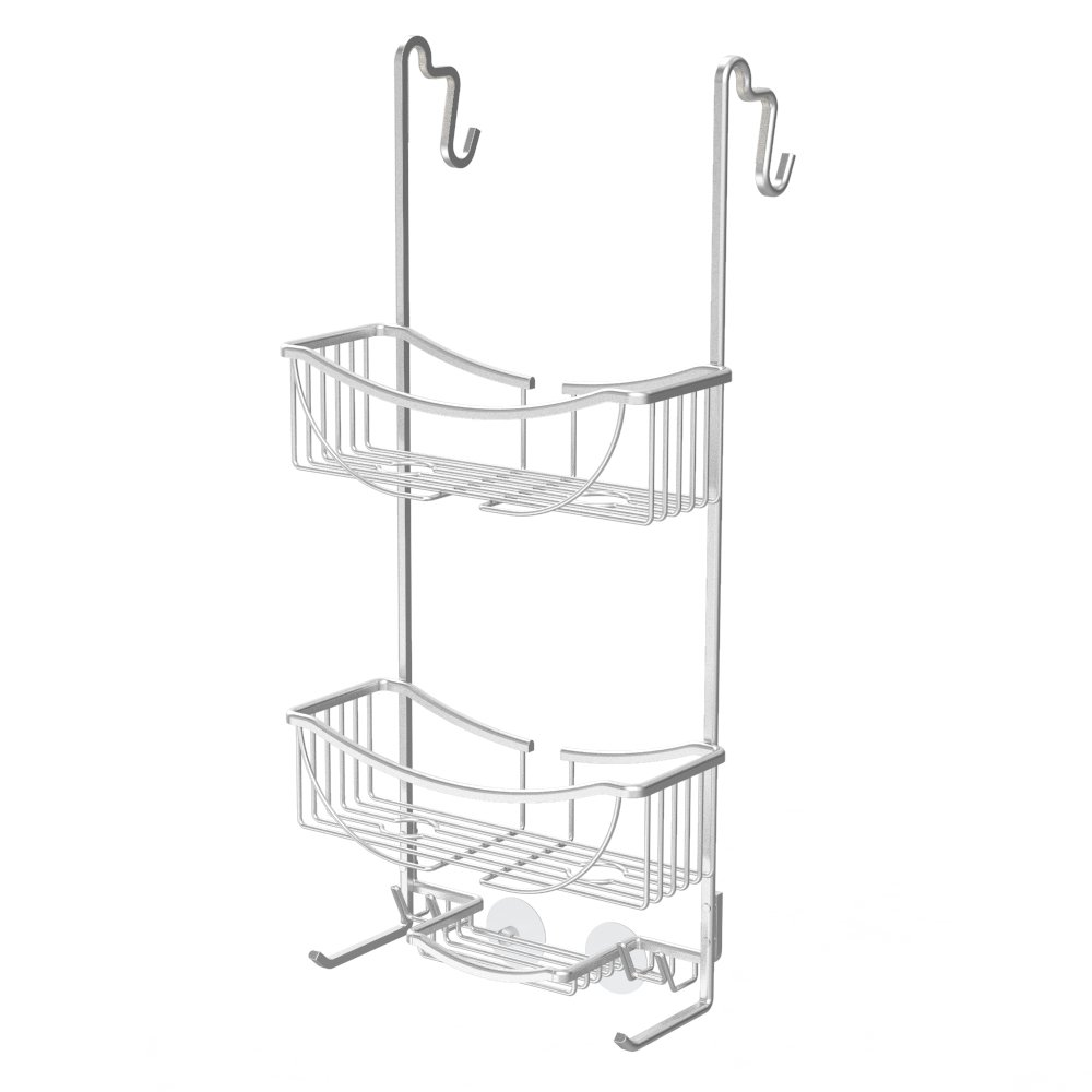 Better Living Products 13634 VENUS 3-Tier Over the Shower Door Caddy, Grey