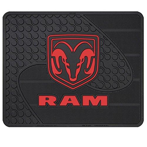 Dodge Ram Head Logo Utility Rear Mat - Single