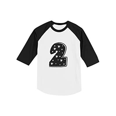Im 2 Years Old Superstar Birthday Gift Toddler Raglan 3 4 Sleeve Baseball Tee