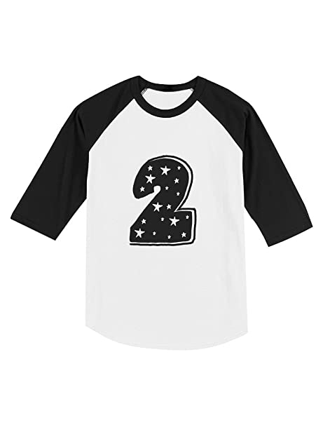 Amazon Im 2 Years Old Superstar Birthday Gift Toddler Raglan 3 4 Sleeve Baseball Tee Clothing