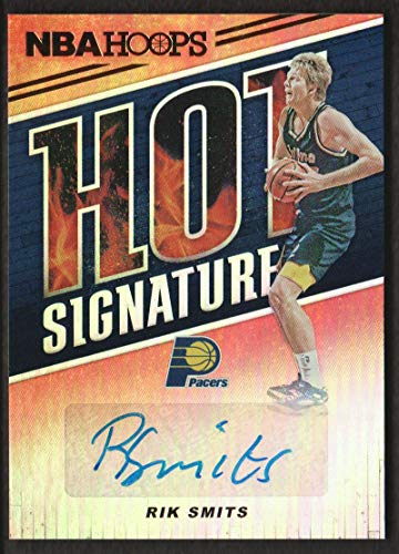 2018-19 NBA Hoops Basketball Hot Signatures #HS-RSM Rik Smits Auto Indiana Pacers
