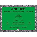 Arches Watercolor Paper Block, Cold Press, 9'' x 12'', 140 Pound - Double Pack
