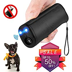 Vantax Handheld Dog Repellent Trainer, Anti Barking Device with LED Flashlight, Ultrasonic Dog Deterrent and Bark Stopper Dog Trainer Device