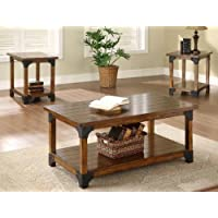 William 3pc Cocktail Set with Casters