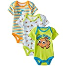 Disney Baby Boys'  Nemo 3 Pack Bodysuit, Multi, 6 Months