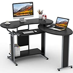 Whether working in your home office or looking for plenty of desk space for decorating it, An L-shaped desk is a great place to start. This modern L-shaped computer desk not only provides ample space for keeping a laptop or paper works but al...