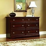 Sauder Palladia Dresser, Select Cherry Finish