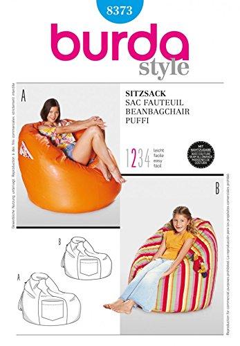 Excellent Amazon Com Burda Homeware Easy Sewing Pattern 8373 Beanbag Ibusinesslaw Wood Chair Design Ideas Ibusinesslaworg