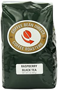 Coffee Bean Direct Raspberry Flavored Loose Leaf Tea, 2 Pound Bags (Pack of 2)