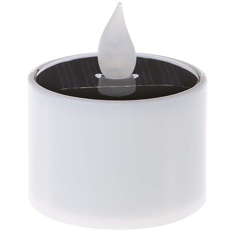 Manyo - Luz solar para exterior, velas LED de té falsas sin ...