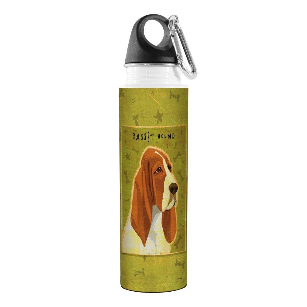 Basset Hound Tree Free 18-Ounce Golden Artful Traveler Stainless Steel Water Bottle Tree-Free Greetings VB48059 John W